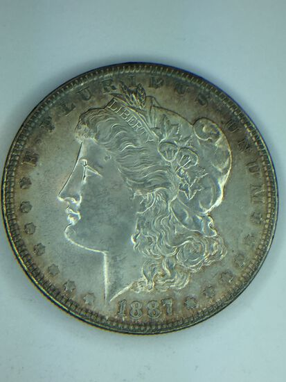 1887 – P Morgan Silver Dollar