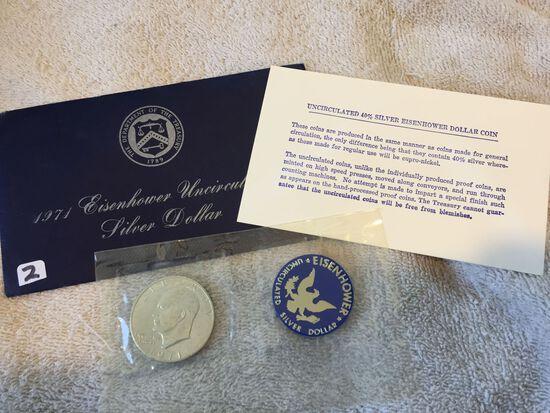 1971 – S Eisenhower Dollar