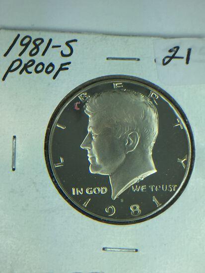 1981 – S Kennedy Half Dollar