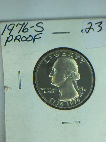 1776 – 1976 – S Washington Quarter