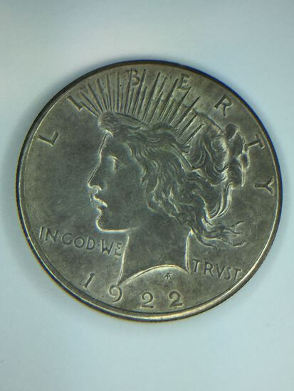 1922 – S Peace Silver Dollar