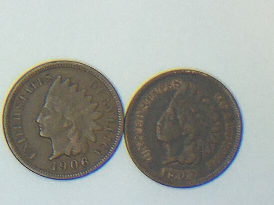 1906, 1907 Indian Head Cents
