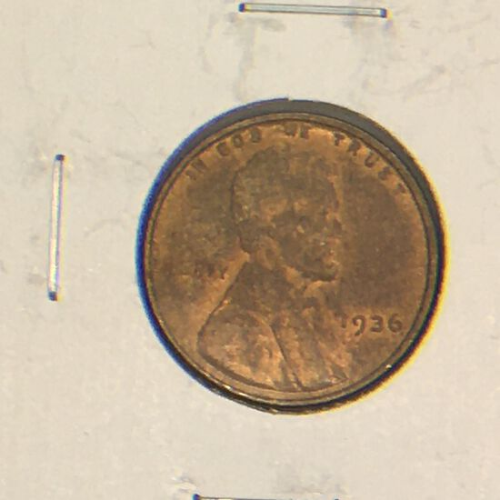 1936 – B Lincoln Cent
