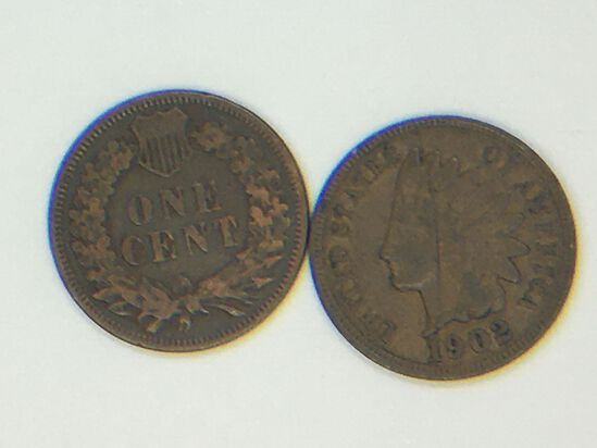 1906, 1902 Indian Head Cents