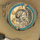 .925 Sterling Silver Unisex Buffalo Ring