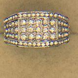 .925 Sterling Silver Man 2 Carat Gemstone Ring
