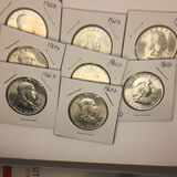 (8) 1960 – D Franklin Half Dollars