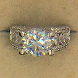 .925 Sterling Silver 4 Carat Engagement Ring Ladies