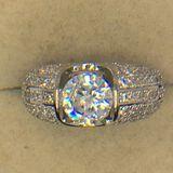 .925 Sterling Silver Ladies 3 Carat Cocktail Ring
