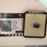 6.95 Carat Radiant Cut Sapphire