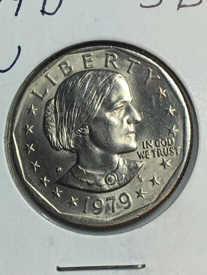 1979 – D Susan B Anthony Dollar