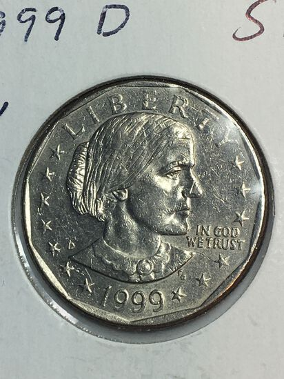 1999 – D Susan B Anthony Dollar