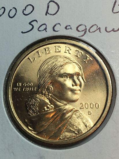 2000– D Sacajawea Dollar