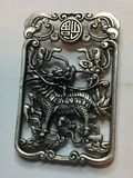 Miao Silver Carved Dragon Lucky Pendant