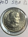1980 – D Susan B Anthony Dollar
