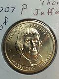 2007 – P Thomas Jefferson Golden Dollar