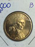 2000 – P Sacajawea Dollar