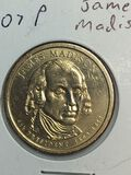2007 – P James Madison Golden Dollar