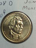 2008-D James Monroe Golden Dollar