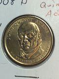 2008 – D John Quincy Adams Golden Dollar