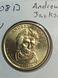 2008 – D Andrew Jackson Golden Dollar