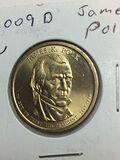 2009 – D James Polk Golden Dollar