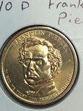 2010 – D Franklin Pierce Golden Dollar