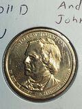 2011 – D Andrew Johnson Golden Dollar