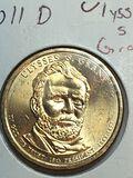 2011 – D Ulysses S Grant Golden Dollar