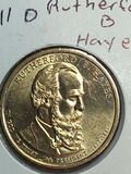 2011 – D Rutherford B Hayes Golden Dollar