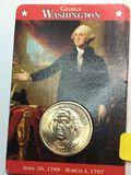 2007 – P George Washington Golden Dollar Mint Card