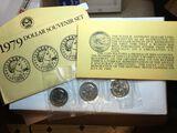 1979 Susan B. Anthony 3 Coin Set