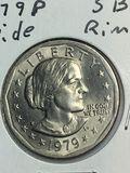 1979 – P Susan B Anthony Dollar Wide Rim
