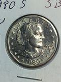 1980 – S Susan B Anthony Dollar