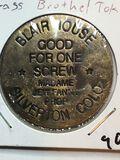 Blair House Brass Brothel Token