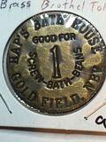 Hap's Bath House Brass Brothel Token