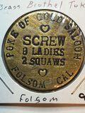Poke Of Gold Saloon Brass Brothel Token