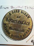 Rosie's Palace Brass Brothel Token