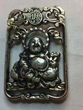 Miao Silver Carved Buddha Lucky Pendant