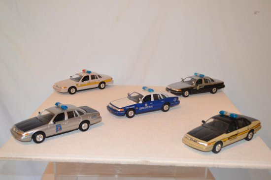 5 Ford State Police Cars,