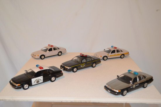 5 Ford State Police Cruisers, Umarked.