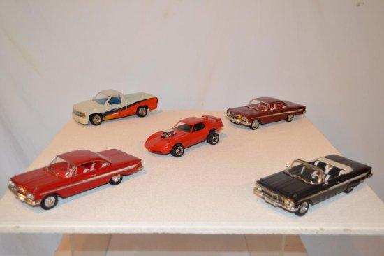 4 Model Cars & 1Truck