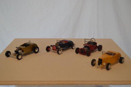 Lindberg Model T Roadster & 3 Model A Custome Cars