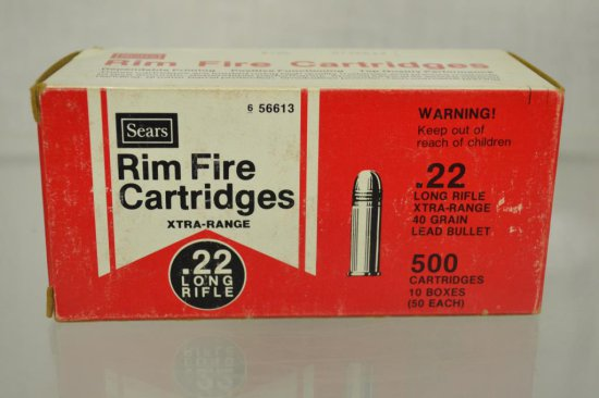 Ammo. 22 LR Sears. 500 Rds.