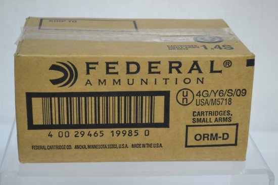 Ammo. Federal 5.56 Full Metal Jacket. 400 Rds