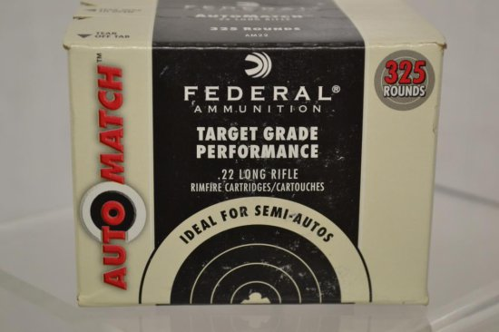 Ammo. Federal .22 LR. 325 Rds Unopened Box