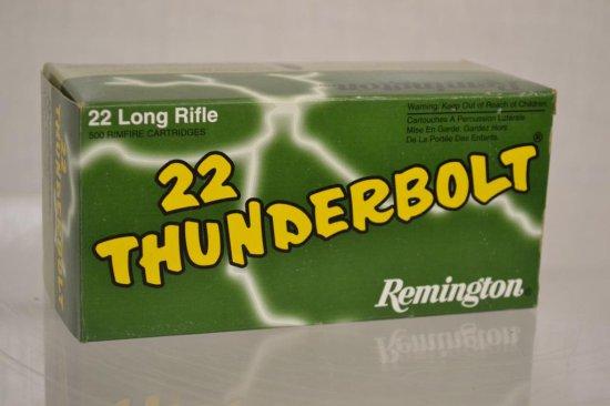 Ammo. Thunderbolt 22 LR. 500 Rds
