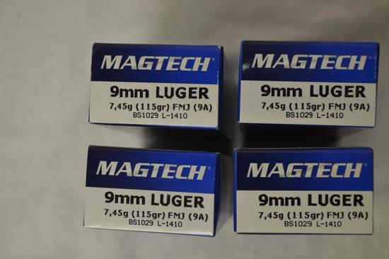 Ammo. 9 mm, 115 GR. 200 Rounds