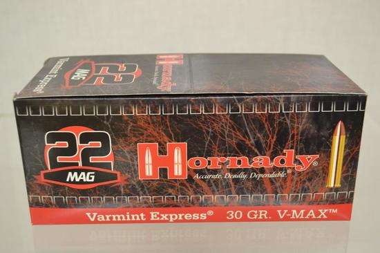 Ammo. Hornaby 22 Mag, 30 GR. 500 Rounds.