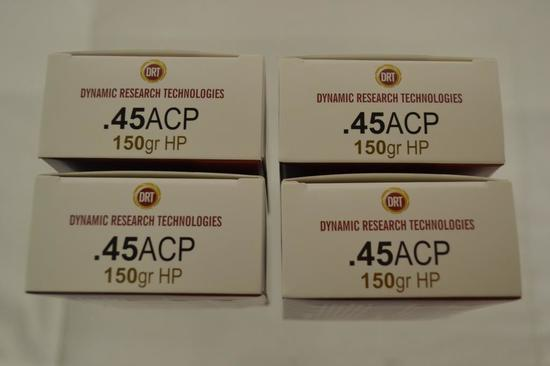 Ammo. 45 Auto, 150 GR. 80 Rounds